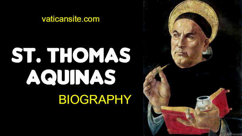 St Thomas Aquinas biography life