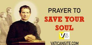 PRAYER OF SAINT JOHN BOSCO
