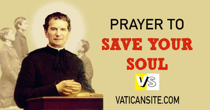 PRAYER OF SAINT JOHN BOSCO