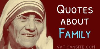 St. Mother Teresa Quotes About Family