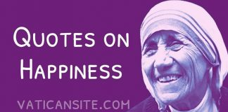 St. Mother Teresa Quotes on Happiness